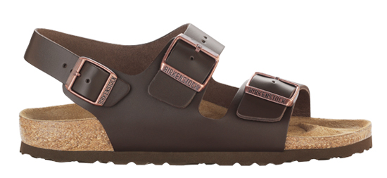 BIRKENSTOCK Milano dark brown leather regular 034101 bruin