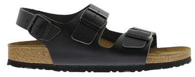 BIRKENSTOCK Milano black smooth leather regular 034191 zwart