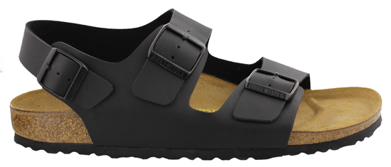 BIRKENSTOCK Milano black regular 034791 zwart