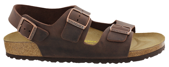 BIRKENSTOCK Milano habana oiled leather narrow 034873 bruin