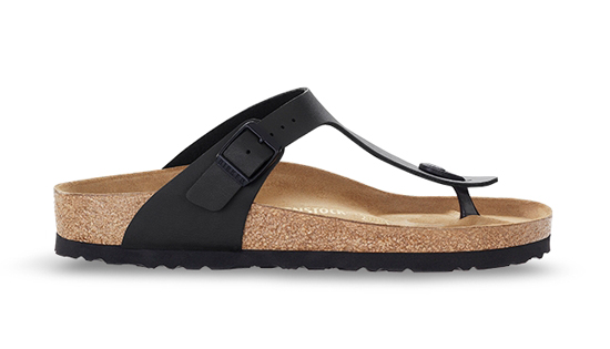BIRKENSTOCK Gizeh black regular 043691 zwart
