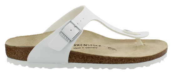 BIRKENSTOCK Gizeh white narrow white sole 043733 wit