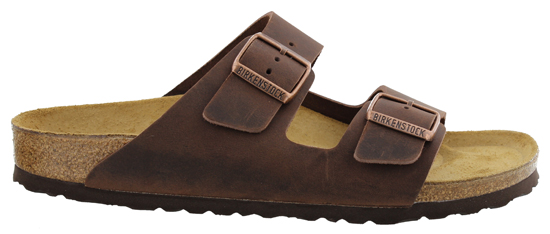 BIRKENSTOCK Arizona habana oiled leather narrow 052533 bruin