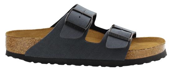birkenstock arizona basalt zacht voetbed breed 052871 grijs