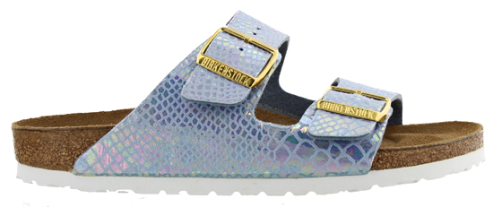 BIRKENSTOCK Arizona shiny snake sky small 057603 blauw