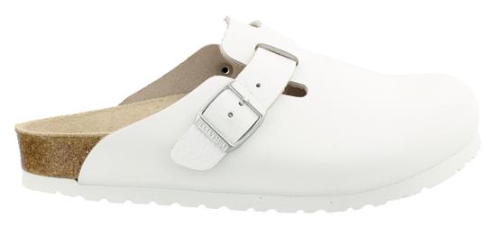 birkenstock boston white leather regular 060131 wit