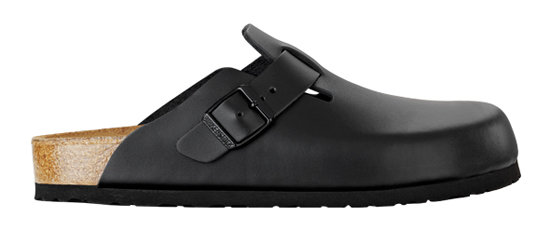 birkenstock boston black leather soft footbed narrow 060413 zwart
