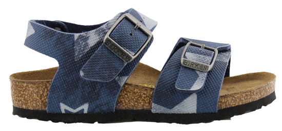 BIRKENSTOCK New York vintage stars blue narrow 089383 blauw