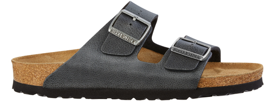 BIRKENSTOCK Arizona pull up anthracite grey narrow 1000127 grijs