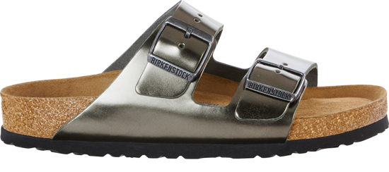 BIRKENSTOCK Arizona metallic anthracite narrow SFB 1000295 grijs
