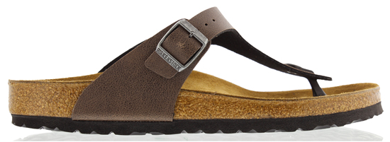 BIRKENSTOCK Gizeh pull up brown regular 1005027 bruin