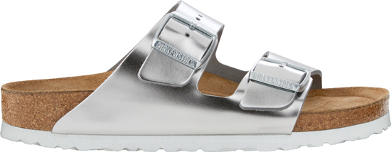 BIRKENSTOCK Arizona metallic silver narrow SFB 1005961 zilver