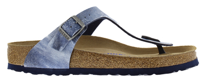 BIRKENSTOCK Gizeh used jeans blue narrow 1006229 blauw