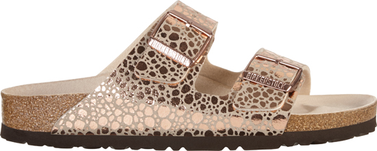 BIRKENSTOCK Arizona metallic stones copper narrow 1006685 goud