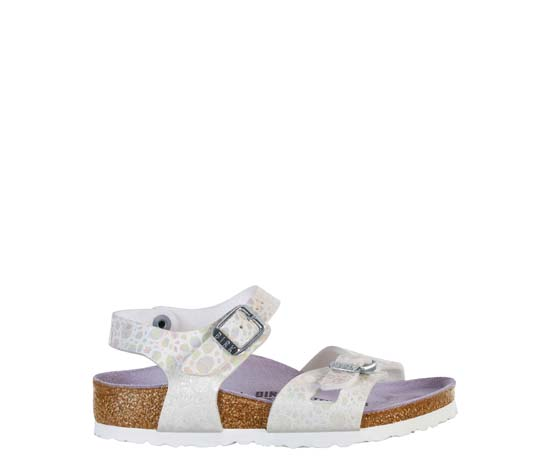 BIRKENSTOCK Rio metallic stones white narrow 1008197 wit