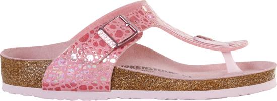 BIRKENSTOCK Gizeh metallic stones pink narrow 1008261 roze/paars