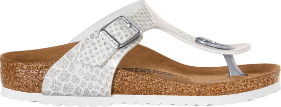 BIRKENSTOCK Gizeh magic snake white regular 1008281 wit