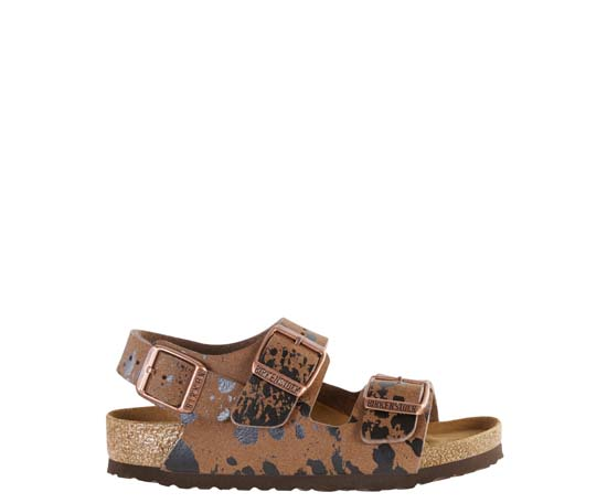 BIRKENSTOCK Milano colour sprays brown narrow 1008303 bruin
