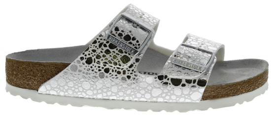 BIRKENSTOCK Arizona metallic stones silver narrow 1008870 zilver