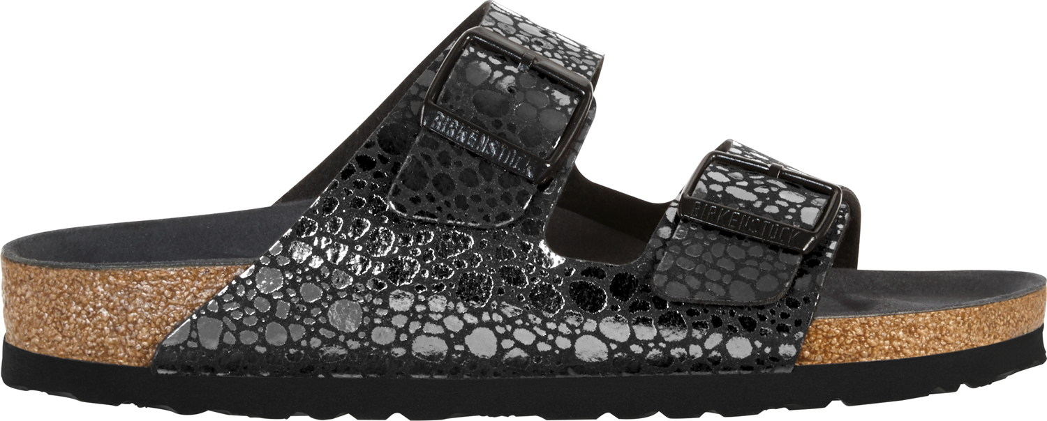 BIRKENSTOCK Arizona metallic stones black narrow 1008872 zwart