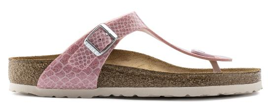 birkenstock gizeh magic snake rose narrow bf 1009122 roze/ paars