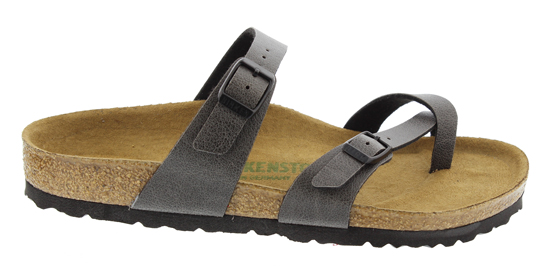 BIRKENSTOCK Mayari pull up anthracite VEG regular 1009512 grijs
