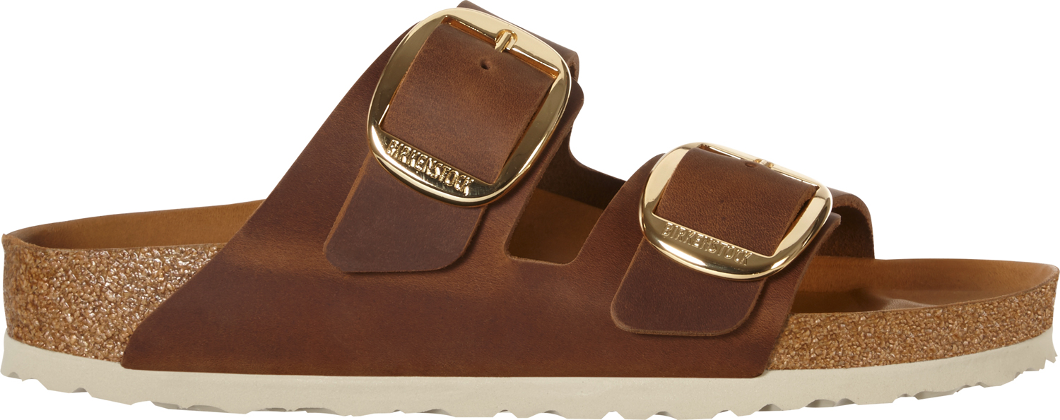 BIRKENSTOCK Arizona big buckle cognac narrow oiled leather 1011073 bruin