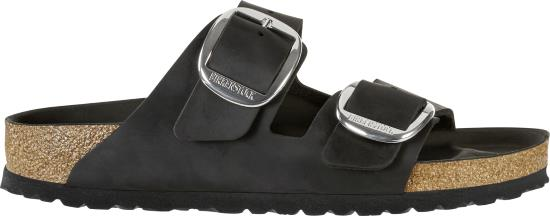 BIRKENSTOCK Arizona big buckle black regular oiled leather 1011074 zwart