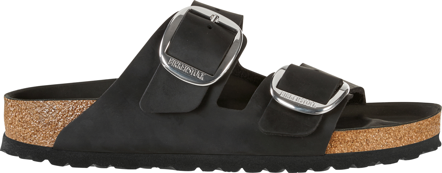 BIRKENSTOCK Arizona big buckle black narrow Oiled Leather 1011075 zwart