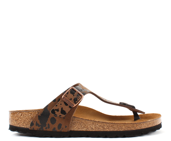 BIRKENSTOCK Gizeh colour spray brown narrow 1011458 bruin