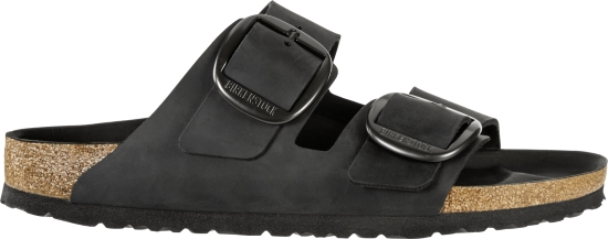 BIRKENSTOCK Arizona Big Buckle Black regular Oiled Leather 1012204 zwart