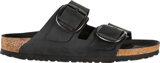 BIRKENSTOCK Arizona Big Buckle Black narrow Oiled Leather 1012205 zwart