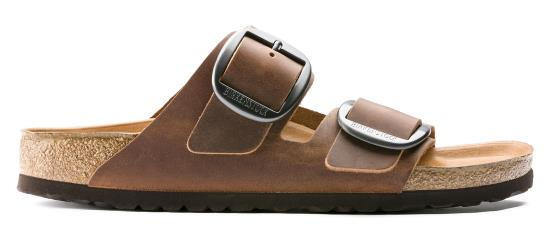 BIRKENSTOCK Arizona Big Buckle Cognac regular Oiled Leather 1012206 bruin