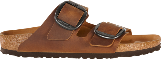 BIRKENSTOCK Arizona big buckle cognac narrow oiled leather 1012207 bruin