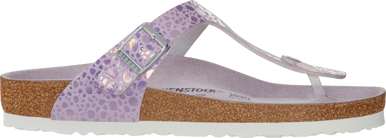 BIRKENSTOCK Gizeh metallic stones lilac regular 1012921 roze/ paars
