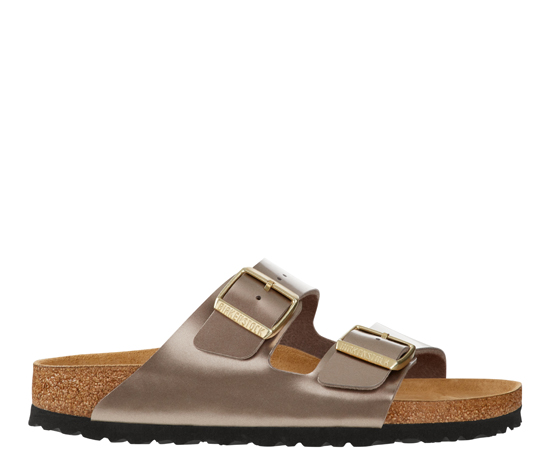 BIRKENSTOCK Arizona electric metallic taupe narrow 1012972 bruin