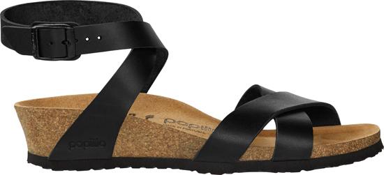 BIRKENSTOCK PAPILLIO Lola black narrow natural leather 1013160 zwart