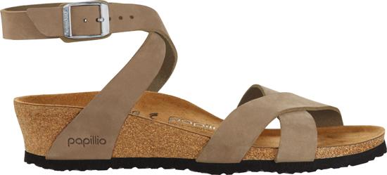 BIRKENSTOCK PAPILLIO Lola sand nubuck leather narrow 1013573 bruin