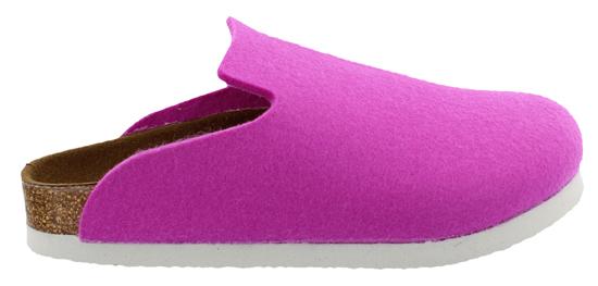 birkenstock davos pink wool narrow 142253 roze/paars
