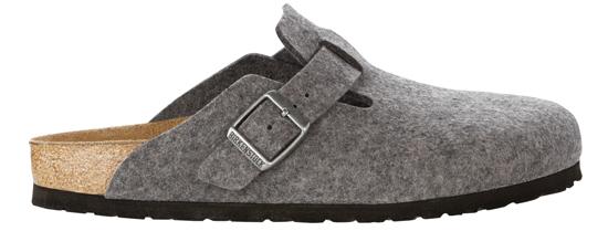 birkenstock boston grey wool regular 160361 grijs