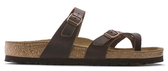 BIRKENSTOCK Mayari habana oiled leather regular 171321 bruin