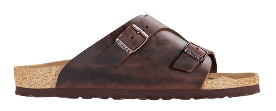 birkenstock zurich habana oiled leather regular 250211 bruin