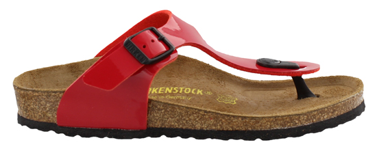 BIRKENSTOCK Gizeh tango red patent narrow 345503 rood