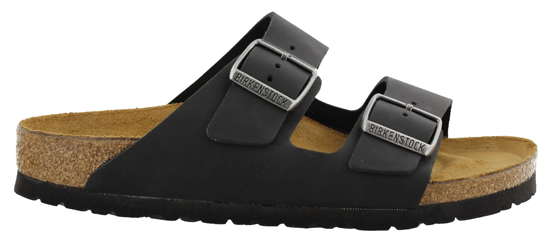 BIRKENSTOCK Arizona black oiled leather narrow 552113 zwart
