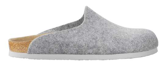 BIRKENSTOCK Amsterdam light grey felt VEGAN regular 559111 grijs