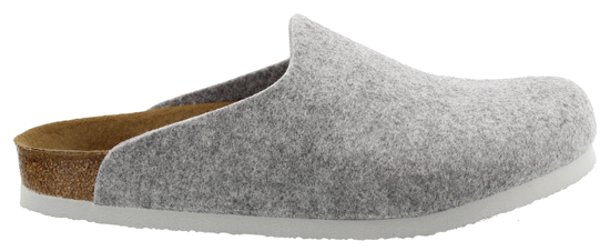 BIRKENSTOCK Amsterdam light grey felt VEGAN narrow 559113 grijs