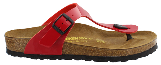 BIRKENSTOCK Gizeh tango red patent regular 743191 rood