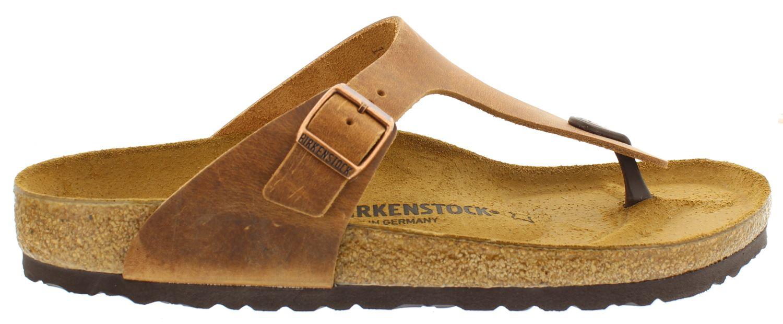 BIRKENSTOCK Gizeh brown leather regular 743781 bruin