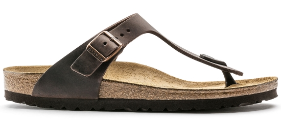 BIRKENSTOCK Gizeh habana oiled leather regular 743831 bruin