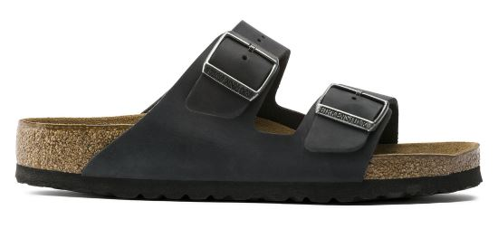 BIRKENSTOCK Arizona black regular oiled leather 752481 zwart